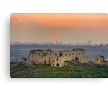 Turkish fortress at the Valley of Afek Canvas Print
