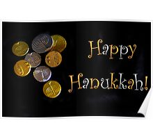 Happy Hanukkah with Chocolate Gelt! Poster