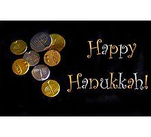 Happy Hanukkah with Chocolate Gelt! Photographic Print