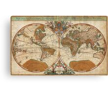 1691 Sanson Map of the World on Hemisphere Projection Geographicus World sanson 1691 Canvas Print
