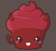 Spooky Cupcake - Devil One Piece - Short Sleeve