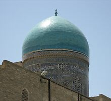 Turquoise Dome Circled by Arabic by M-EK