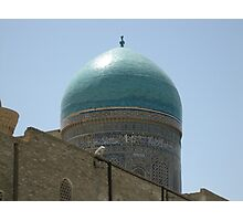 Turquoise Dome Circled by Arabic Photographic Print