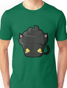 Spooky Cupcake - Black Cat Unisex T-Shirt
