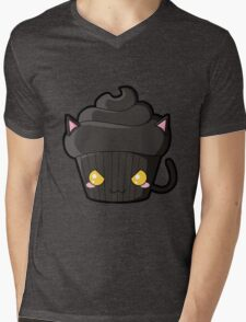 Spooky Cupcake - Black Cat Mens V-Neck T-Shirt