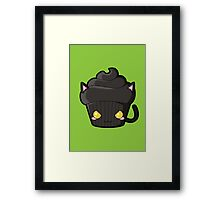 Spooky Cupcake - Black Cat Framed Print