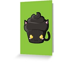 Spooky Cupcake - Black Cat Greeting Card