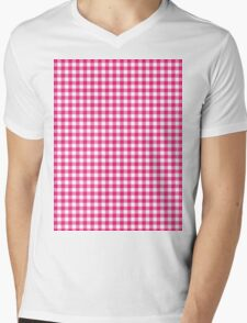 Pattern picnic tablecloth Mens V-Neck T-Shirt