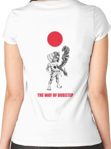 The way of dubstep Women's Fitted Scoop T-Shirt
