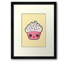 Happy Cupcake Framed Print