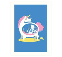 The Truth About Unicorns [Blue] Art Print