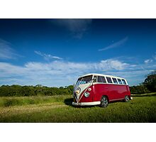 Classic Volkswagon Campervan no. 2 Photographic Print
