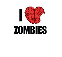 I Shotgun Zombies/ I Heart Zombies  Photographic Print