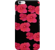 Two red blossoms repeated iPhone Case/Skin