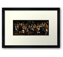 Bartholomeus van der Helst Banquet of the Amsterdam Civic Guard in Celebration of the Peace of Münster Framed Print