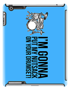 Step Brothers Nutsack Drumset iPad Case by ReZourceman