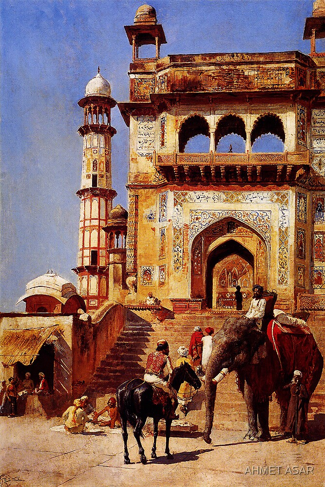 before a mosque 1883 by Adam Asar