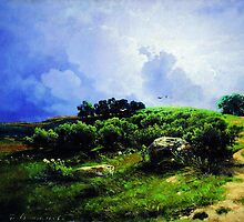before a thunderstorm 1869 by Adam Asar