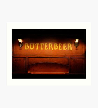 Butterbeer Sign at Night Art Print