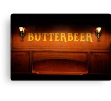 Butterbeer Sign at Night Canvas Print