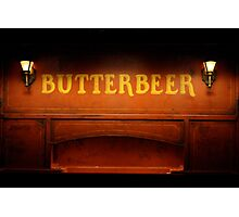 Butterbeer Sign at Night Photographic Print