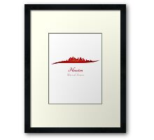 Houston skyline in red Framed Print