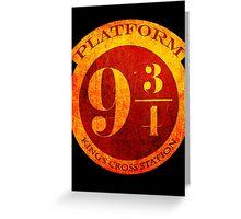 Platform 9 3/4 Greeting Card