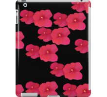 Two red blossoms repeated iPad Case/Skin