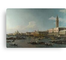 Canaletto    Venice The Basin of San Marco on Ascension Day (c. 1740) Canvas Print
