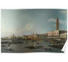 Canaletto    Venice The Basin of San Marco on Ascension Day (c. 1740) Poster