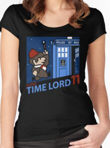 Super Time Lord 11 Women's Fitted Scoop T-Shirt