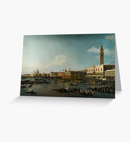 Canaletto  Venice The Basin of San Marco on Ascension Day Greeting Card