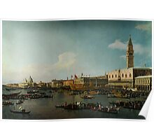 Canaletto  Venice The Basin of San Marco on Ascension Day Poster