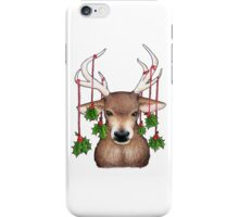 Stag with Holly iPhone Case/Skin