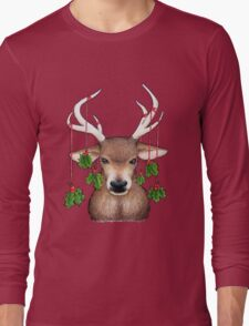 Stag with Holly Long Sleeve T-Shirt