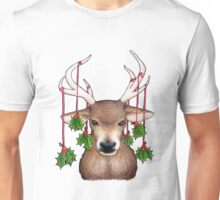 Stag with Holly Unisex T-Shirt