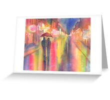 Rainy Night in New Orleans Greeting Card