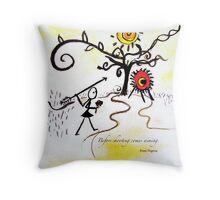 Aiming Throw Pillow