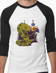 RobotReptileRaygun Men's Baseball ¾ T-Shirt