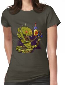 RobotReptileRaygun Womens Fitted T-Shirt