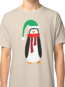 Cute Holiday Penguin Classic T-Shirt