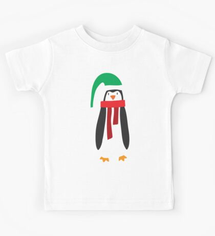 Cute Holiday Penguin Kids Tee