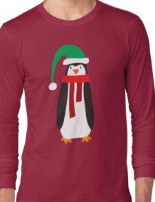 Cute Holiday Penguin Long Sleeve T-Shirt