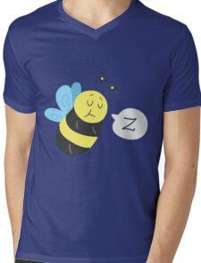 Sleepy Bee Mens V-Neck T-Shirt