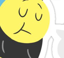 Sleepy Bee Sticker