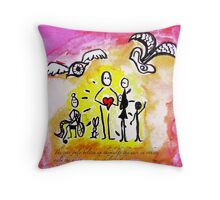 only the heart Throw Pillow