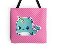 Kawaii Blue Narwhal Tote Bag