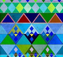 Cobalt blue diamond pattern by rainbowflowers