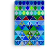 Cobalt blue diamond pattern Canvas Print