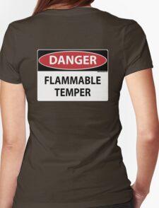 Danger- Flammable Temper Womens Fitted T-Shirt